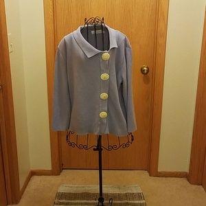 Willow periwinkle sz.XL asymmetrical knitcardigan